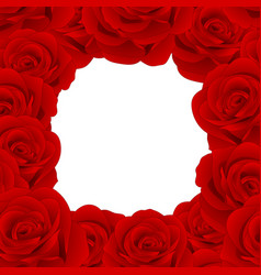 red rose border vector image