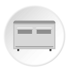 Retro electric fan icon circle vector