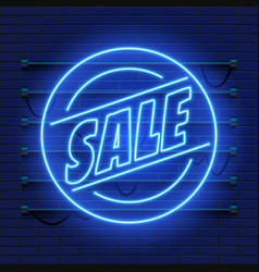 Retro sale neon sign las vegas concept vector