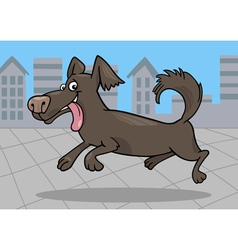 running little dog cartoon vector image