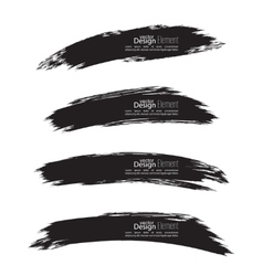 Set of hand drawn smears vector image