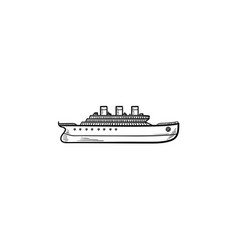 ship hand drawn outline doodle icon vector image