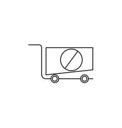 shopping cart restriction icon vector image