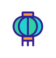 Sky lantern icon isolated contour symbol vector