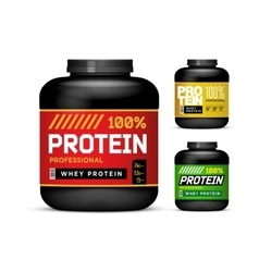 Sport Nutrition Containers Weight gainers set vector image
