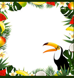 summer tropical frame vector image