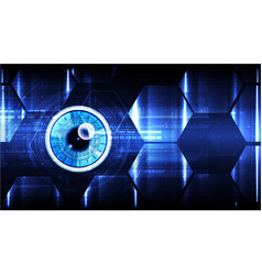 technological cybersecurity eye scanning vector image