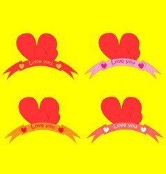 valentines card with line heart and all you need vector image