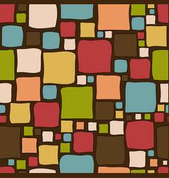 vintage doodle squares background vector image