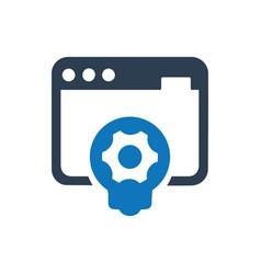 website development icon vector image