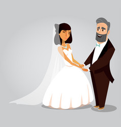 wedding ceremony greeting card concept vector image