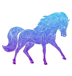 Wild horse gradient ornament ethnic vector image