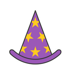 wizard hat halloween related icon filled outline vector image