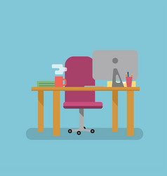 Workplace flat style vector