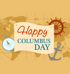world map columbus day concept background flat vector image