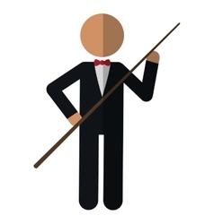 character billiard player vector image vector image