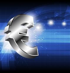 euro money icon vector image