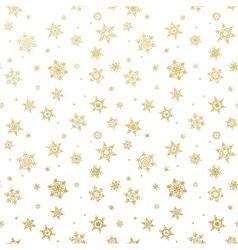 Golden Christmas snowflake EPS 10 vector image vector image