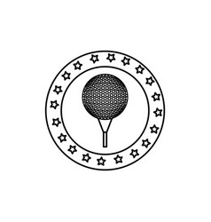 golf sport ball isolated icon vector image