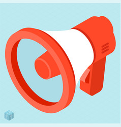 Megaphone isometric icon vector