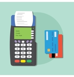 pay credit card merchant machine debit tools vector image vector image