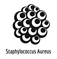 staphylococcus aureus icon simple style vector image vector image