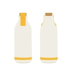 bottle of milk icons vector image