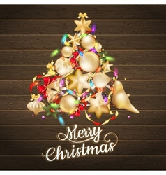 Christmas card with baubles EPS 10 vector image vector image