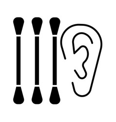 ear cleaning icon black sign vector image