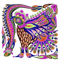 marker painting bird ethnic design vector image vector image