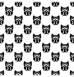 Owl pattern seamless vector image vector image