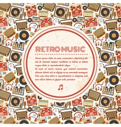 Retro music poster vector image vector image