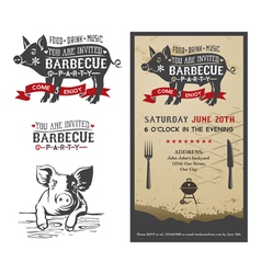 Barbecue pig vector image
