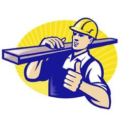carpenter lumberyard worker vector image