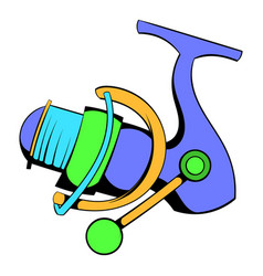 fishing reel icon icon cartoon vector image