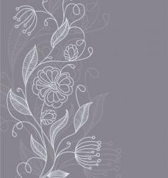 floral back grey vector image