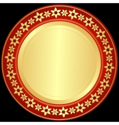 golden and red black frame vector image