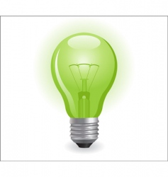 incandescent electric bulb vector image vector image