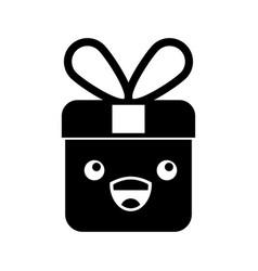 kawaii christmas gift funny cartoon vector image