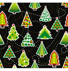 Seamless Christmas Tree Background vector image vector image
