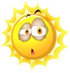 Sleepy face on the sun vector image