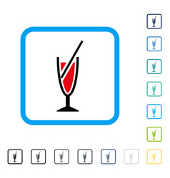 cocktail framed icon vector image
