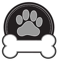 Dog bone and paw vector
