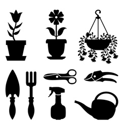 flower tools vector image vector image