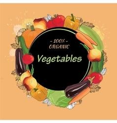 hand drawn eco vegetables set autumn harvest vector image