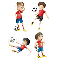 A team of soccer players vector image
