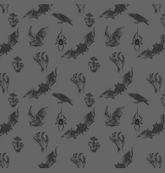 abstract seamless halloween pattern vector image