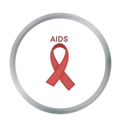AIDS ribbon icon in cartoon style isolated on vector image