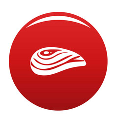 Aquatic shell icon red vector