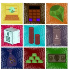 Assembly flat shading style icon economics vector